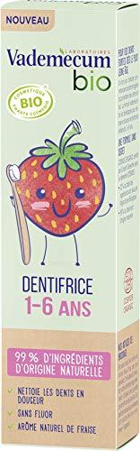 Vademecum - Dentifrice enfant junior 1-6 ans goût fraise, bio - Le tube de 50ml