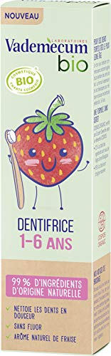 Vademecum Dentifrice enfant junior 1-6 ans goût fraise, bio - Le tube de 50ml