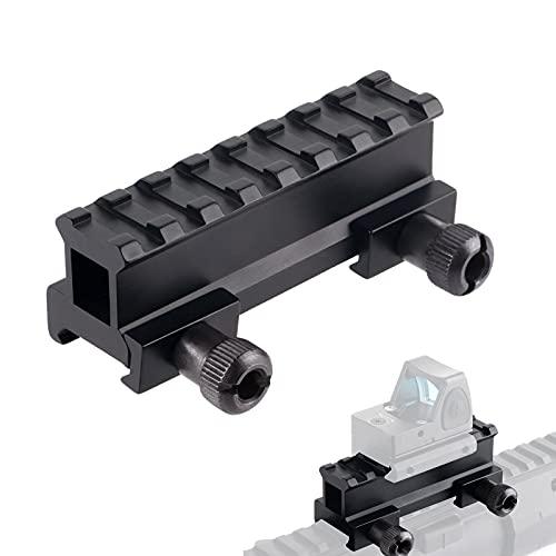 FOCUHUNTER Riser Base Mount Support Adaptateur Rail de Fusil D0015 en Alliage d'aluminium de 21 mm pour Les montages sur Rail Picatinny/Weaver