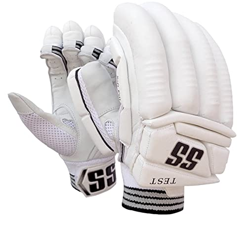 SS Test Players Batting Gloves Adult Right Hand (White)