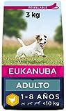 Eukanuba Alimento seco para perros adultos activos de raza pequeña, rico en pollo fresco 3 kg