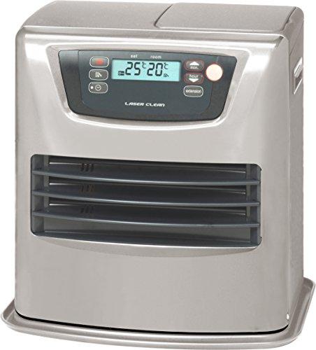 Zibro Lc   35 Stufa a Combustibile Elettronica, portatile, 3500 W, Argento, da 21m2 - 56m2, senza installazione, termostato regolazione giornaliera, Classe di efficienza Energetica A