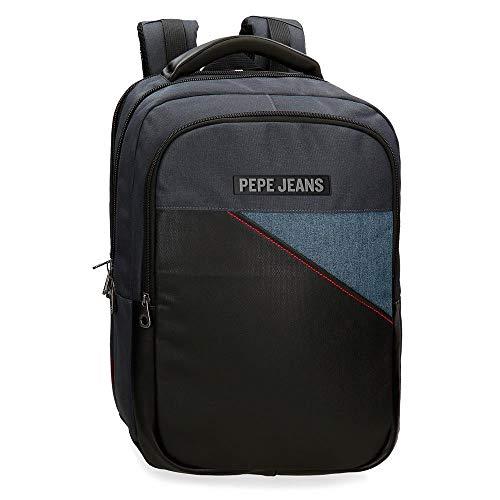 """Pepe Jeans Bumper Mochila Doble Compartimento Adaptable para Portátil 15,6"""" Multicolor 31x44x15 cms Poliéster 20.46L"""
