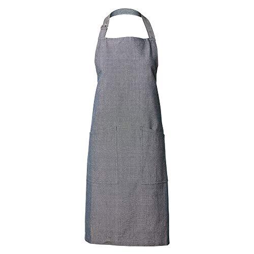 LINUM SARA Traditionell Schürze für Erwachsene Frauen Männer Waschmaschinenfest, Cotton, Tintenblau, 70 x 90 cm