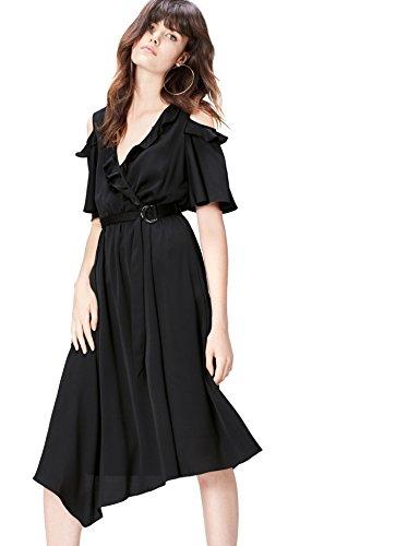 find. 13593 vestiti donna, Nero (Black), 40 (Taglia Produttore: X-Small)