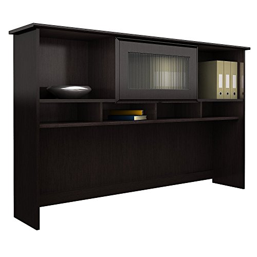 Bush Furniture Cabot 60W Hutch, Espresso Oak