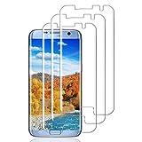 Haikingmoon Cristal Templado Samsung S7 Edge,[3 Piezas] Dureza 9H Fácil de Instalar Contiene Herramientas de Limpieza Vidrio Protector Pantalla para Samsung Galaxy S7 Edge