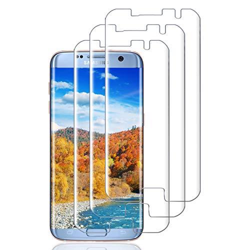 Haikingmoon Verre Trempé Samsung S7 Edge,[3 Pièce] Dureté 9H Ecran Protéger Haute Sensibilité Protections d'écran pour Samsung Galaxy S7 Edge