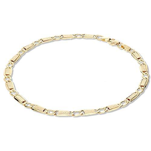 GioiaPura - Pulsera para hombre de oro 750, medida 21 cm, oferta elegante, cód. GP-SVTA080GS21