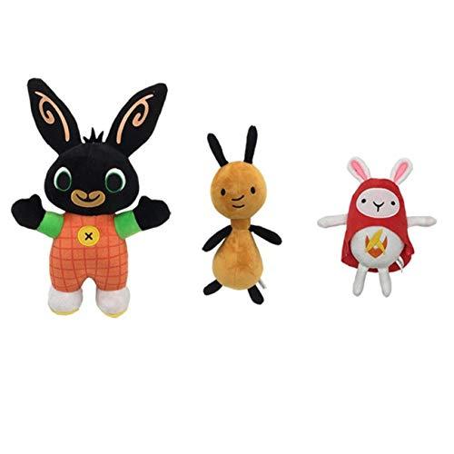 Feketeuki Juego de 3 Piezas de Peluche Bing Bunny en Bolsa