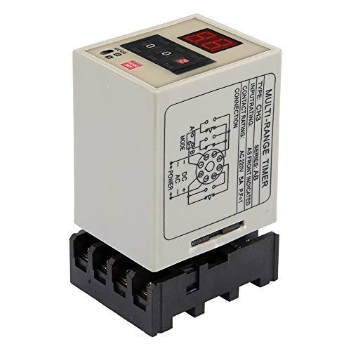 Ruspela AH3-DM - Relé de retraso de modo dual (0 01 S-99H, pantalla LED, color negro y blanco (AC/DC 24 V)
