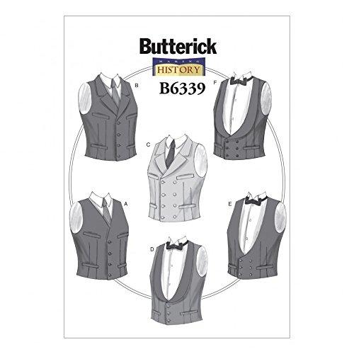 Butterick Schnittmuster 6339Einreihige & Doppelreihige Weste für Herren