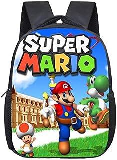 LINJIA Super Mario Bolsa de la Escuela Mario Bros Sonic Kindergarten Infantil Pequeña Mochila Para Niños Bebé de dibujos a...