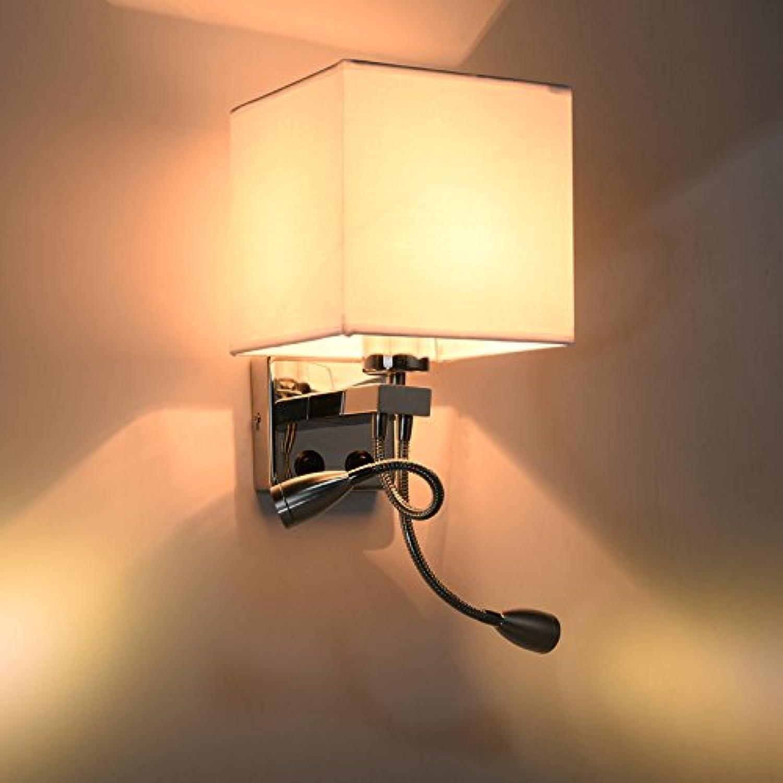 Modern LED Wandleuchte Bett-Stoffwandlampe im Hotel-SchlafzimmerVintage Retro Café Loft Bar Flurlampe, Wandlampe Upaus Aluminium für Flur Korridor Wohnzimmer Schlafzimmer usw.