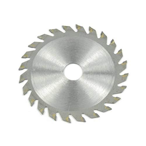 Lorenlli 24 dientes discos de disco de sierra circular Disco de aleación de TCT Hoja de sierra multifuncional para corte de metal de madera 85x15MM