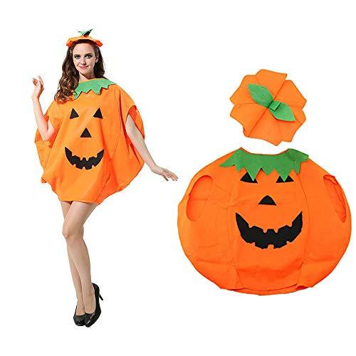 YingBiao Halloween Lovely Festival Disfraz de Calabaza Cosplay Ropa de Fiesta Decoración, Sombrero de Ropa de Calabaza (Adulto)