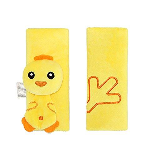 Siège d'auto pour bébé Ceinture Bracelet Couvre Toddlers poussette épaule Coussin Pads enfants Head Neck Support, mignon animal poussin jaune