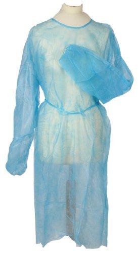 Vlieskittel Einwegkittel Blau Tiga Easy Standard 50 Stück Schutzkittel Einmalkittel Large Größe 120 x 155cm Qualität Tiga-Med