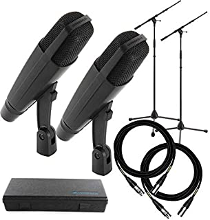 MD 421 Tom Microphones with Stands and Cables