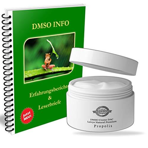 Leivys DMSO CREME Propolis- Salbe mit Dimethysulfoxid 99,9% gratis Handbuch Anwendung Wirkung 2x50ml