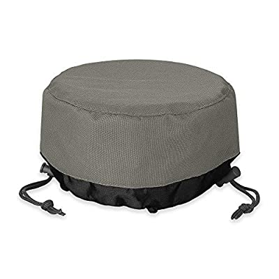 Fire Pit Cover 36 inch, Heavy Duty Round Patio Fire Bowl Cover, Waterproof and Weatherproof, 36''Dia x 20''H from Kolife