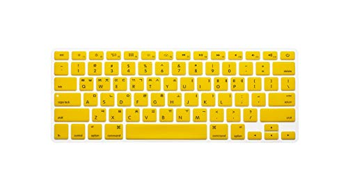 New Korean Keyboard US Version Silicone Protector Stickers Skin For Macbook Air 13 For Mac Pro 13 15 17 Retina Keyboard Cover-yellow-