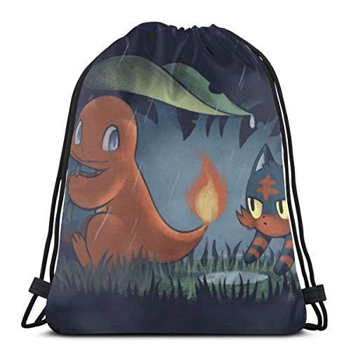 Bolsas con cordón para deporte, gimnasio, mochila de almacenamiento de Goodie Monster Squirtle Family