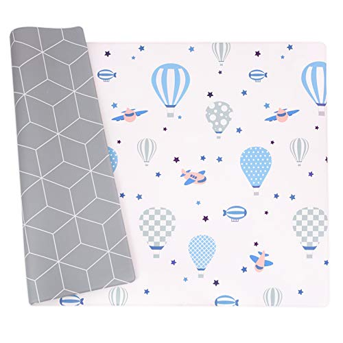 Baby Play Mat, Haute Collection Crawling Mat, Non-Toxic Baby Rug-Cushioned, Reversible Anti-Slip Portable Rolling Floor Mat, Waterproof soft foam Playmat For Infants, Toddlers, Kid, Indoor Outdoor Use