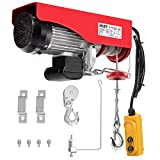 Goplus 2200 lbs Lift Electric Hoist Crane Remote Control Power System, Solid Carbon Steel ...