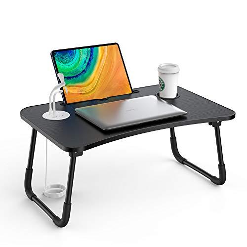 Tavolino PC Letto Scrivania da Tavolo Supporto USB/Portabicchieri