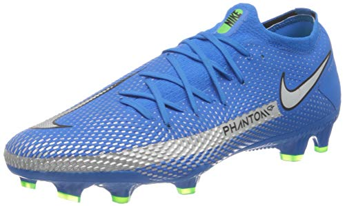 Nike Phantom GT PRO FG, Scarpe da Calcio Unisex-Adulto, Photo Blue/Mtlc Silver-Rage Green-Black, 43 EU