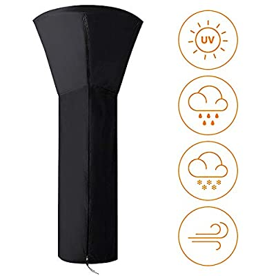"Naiveroo Patio Heater Cover Waterproof with Zipper, Standup Outdoor Round Heater Covers 89'' H x 33"" D x 19"" B"