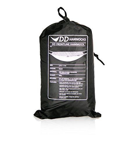 DD Frontline leichte outdoor Hängematte mit Moskitonetz atmungsaktiv schwarz