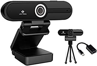 HD 4K Webcam with Microphone | Ultra HD 4K Computer Camera with USB C Adapter | Privacy Cover & Tripod | Pro Streaming Webcam | PC Mac Laptop Desktop | USB Webcam for Video Conferences & Recording