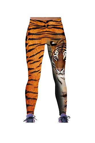 Targogo Vrouwen Animal Print Elastische Sport Leggings Elastische Stretchable Skinny Taille Slim Fit Gezellige Potlood Broek Casual Broek