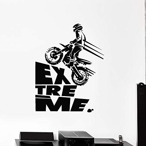 Bonita calcomanía de motociclista, pegatina de pared para habitación de niños, DIY, decoración del hogar, decoración de pared, Mural, pegatina de pared A9 43x55cm