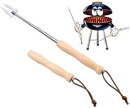 Tasche //// Edelstahl /& Bambus //// ausziehbar f/ür Marshmallow und W/ürstchen bremermann Teleskop-Grillgabel 4er Set //// inkl