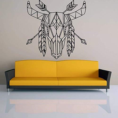 Tatuajes de pared Sala de estar Patrón geométrico Cabeza de animal Diseño de origami Vinilo Pegatinas de pared Dormitorio Decoración de habitación de niños 42x42cm