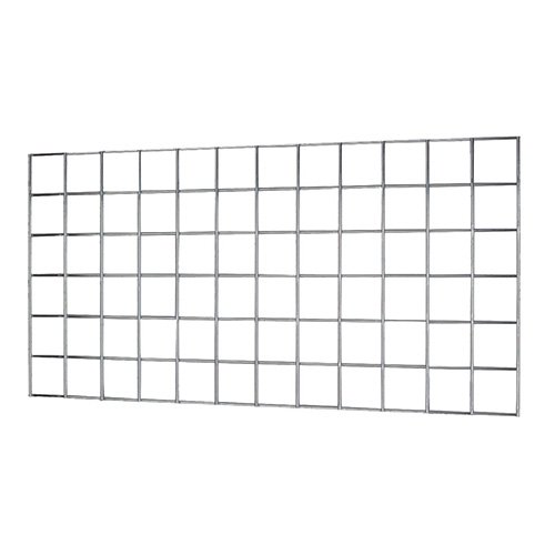 "Focus Foodservice FWMG1836CH EZ-Wall Wire Grid, 36.25"" x 18.25"" x 0.5"" Grid Size, Chromate Finish"