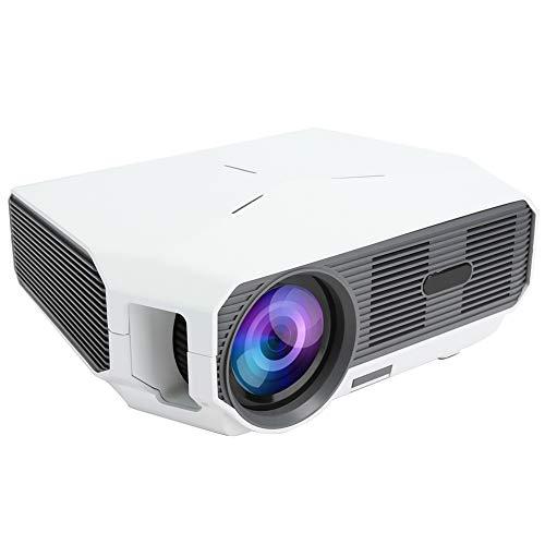 Goshyda Proyector doméstico, portátil, 1280 x 720 HD, inalámbrico, co-frecuencia, reproducción 3D, proyector doméstico, para Dormitorio, Sala de Estar, Exterior, Oficina(Enchufe de la UE)