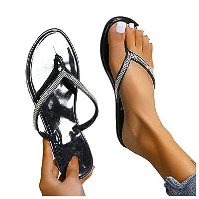 Amazon - Save 50%: DRAGONHOO Flip-Flops Women's Plus Size flip Flops with Bow Flat Slipp…