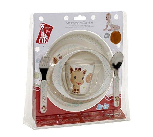 Sophie La Girafe 470006.0 - Set comida plato, bol, vaso y