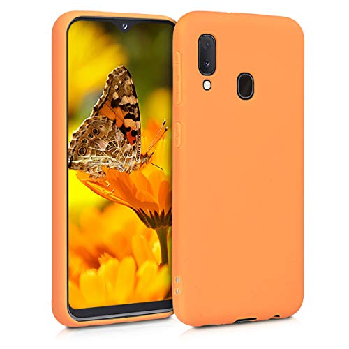 kwmobile Hülle kompatibel mit Samsung Galaxy A20e - Handyhülle - Handy Hülle in Cosmic Orange