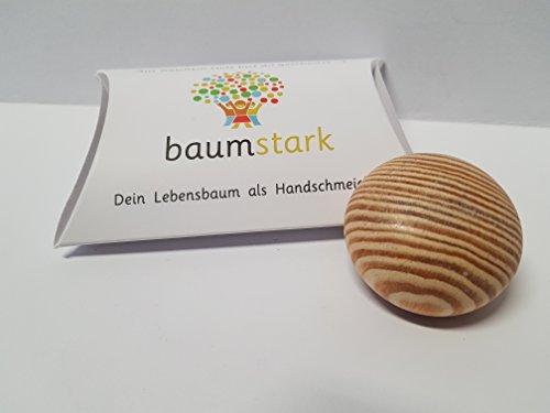 Baumstark Tanne 45mm mit Baumhoroskop (2.1. -11.1. und 5.6. -14.6.) Handschmeichler, Holz, 8 x 11.5 x 2.8 cm