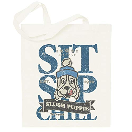 Slush Puppie Distressed Sit Sip Chill Totebag