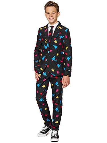 Suitmeister Faschingskostüme für Jungens - Mit Jackett, Hose und Krawatte mit Festlichen Print, Videogame M
