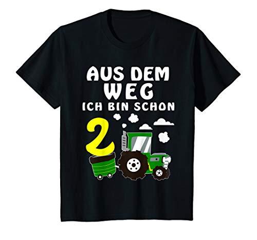 Kinder 2. Geburtstag Junge Ich bin schon 2 Jahre Traktor Trecker T-Shirt