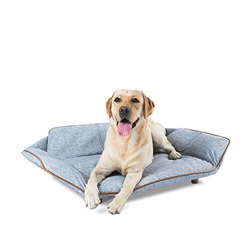 no brand TEYUN Chien Canapé-lit Matelas Pet Sofa (Color : Blue, Size : 103 * 65 * 28cm)