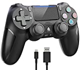 Wireless Controller for Playstation 4, Y-Team 1000mAh Game Controller for PS4 Gamepad Remote Joystick with Dual Vibration, Gyro, 3.5mm Headset Jack, Speaker, LED, USB for PS4/Pro/Slim/PC/Laptop(Black)