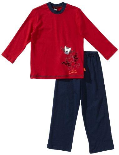 Schiesser Jungen Kn Schlafanzug Lang Pyjama, Rot (500-rot), 104